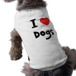 I love Dogs Pet T-shirt