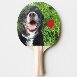 I Love Dogs Ping Pong Paddle