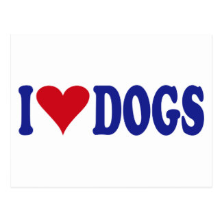 I Love Dogs Postcard