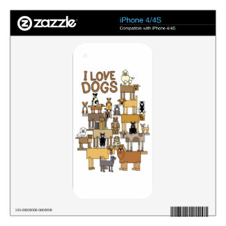 I LOVE DOGS SKINS FOR iPhone 4
