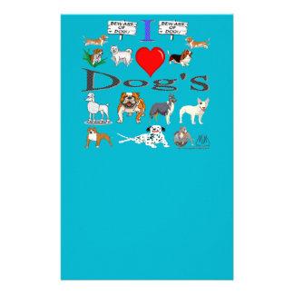 i love Dog's Stationery