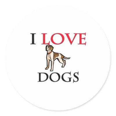 i love dogs stamp