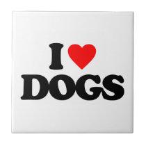 I LOVE DOGS TILE
