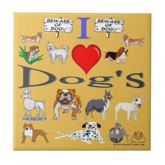i love Dog's Tile