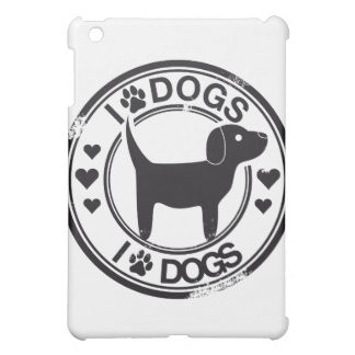 I love dogs with puppy iPad mini cover