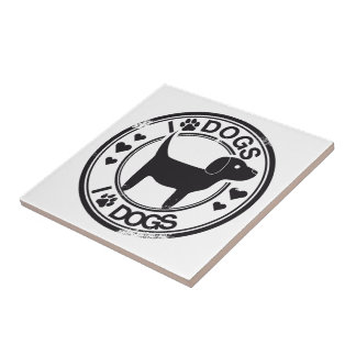 I love dogs with puppy ceramic tiles