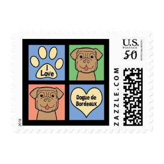 I Love Dogue de Bordeaux Postage