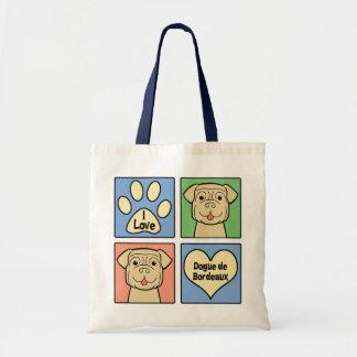 I Love Dogue de Bordeaux Tote Bag