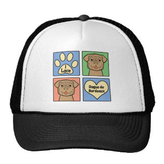 I Love Dogue de Bordeaux Trucker Hat
