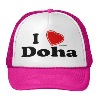I Love Doha Mesh Hats