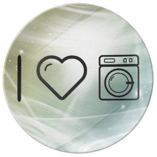 I Love Doing Laundry Porcelain Plate