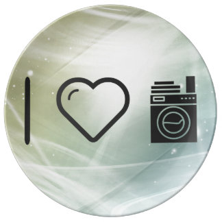 I Love Doing Laundrys Porcelain Plates