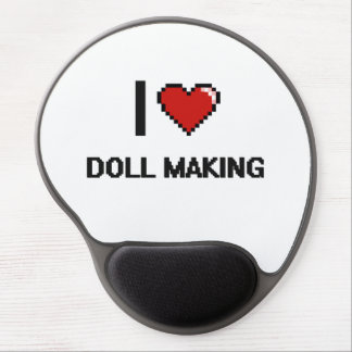 I Love Doll Making Digital Retro Design Gel Mouse Pad