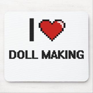 I Love Doll Making Digital Retro Design Mouse Pad