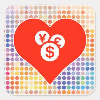 I Love Dollar Square Sticker