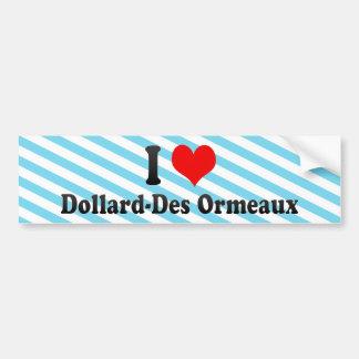 I Love Dollard-Des Ormeaux, Canada Bumper Sticker