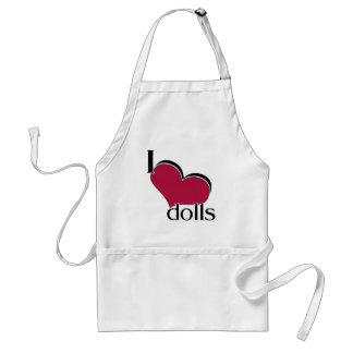 I Love Dolls Adult Apron