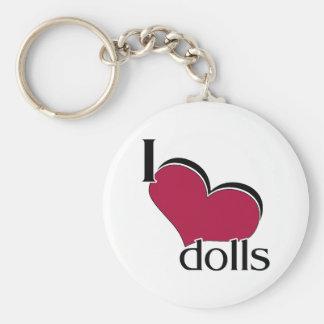 I Love Dolls Key Chains