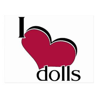 I Love Dolls Postcard