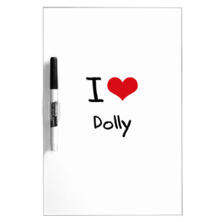 I Love Dolly Dry-Erase Board