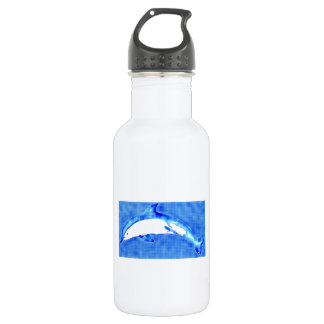 I Love Dolphins 18oz Water Bottle