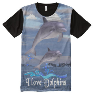 I love Dolphins All-Over-Print T-Shirt