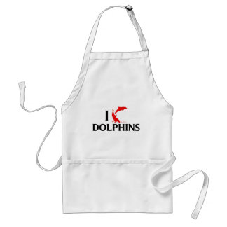 I Love Dolphins Adult Apron