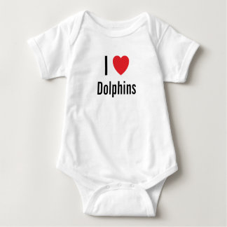 I love Dolphins Baby Jumper Baby Bodysuit