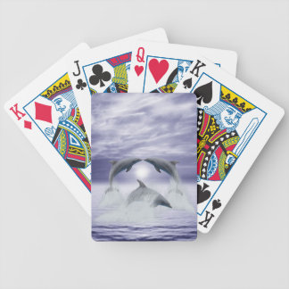I love dolphins bicycle playing cards