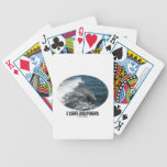I Love Dolphins (Bottlenose Dolphin Breaching) Playing Cards