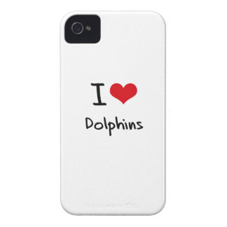 I Love Dolphins iPhone 4 Case