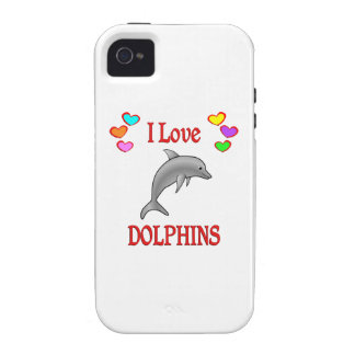 I Love Dolphins Case-Mate iPhone 4 Covers