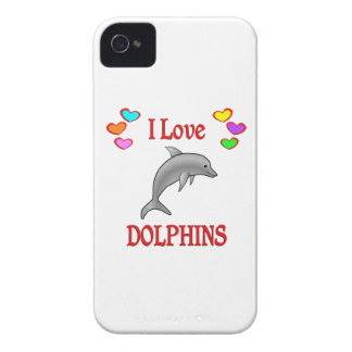 I Love Dolphins iPhone 4 Covers