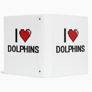 I love Dolphins Digital Design Vinyl Binder