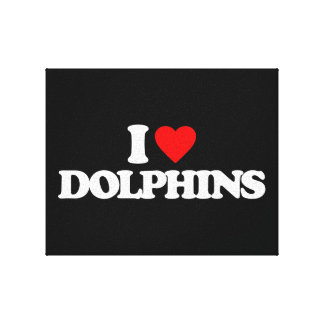 I LOVE DOLPHINS GALLERY WRAP CANVAS