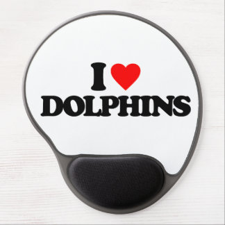 I LOVE DOLPHINS GEL MOUSE PAD