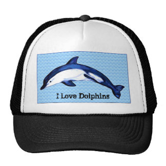 I Love Dolphins Hat