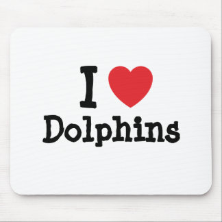 I love Dolphins heart custom personalized Mouse Pad