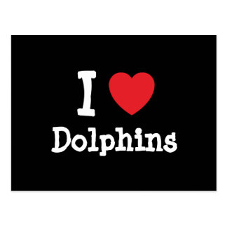 I love Dolphins heart custom personalized Postcard