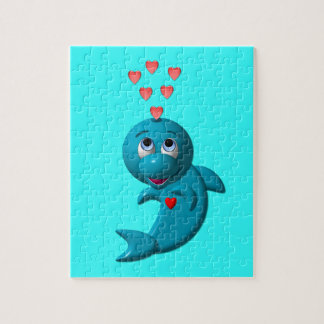 I love dolphins - I love you Jigsaw Puzzle