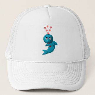 I love dolphins - I love you Trucker Hat