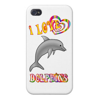 I Love Dolphins Cover For iPhone 4