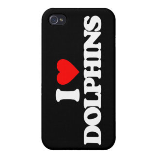 I LOVE DOLPHINS iPhone 4/4S CASE