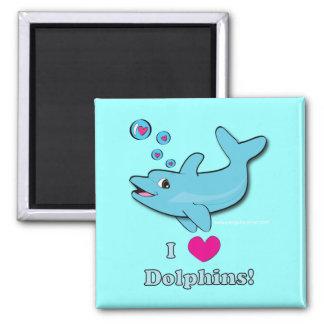 I Love Dolphins! Magnet