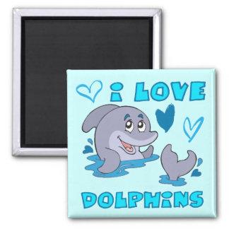 I Love Dolphins Magnet
