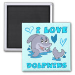 I Love Dolphins Magnets