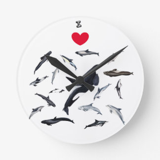 I love dolphins - Master the dolphins Round Clock