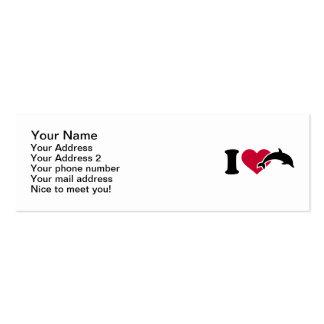 I love Dolphins Mini Business Card