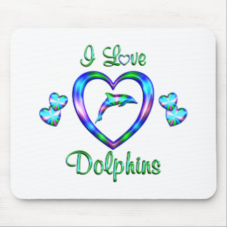 I Love Dolphins Mouse Pad