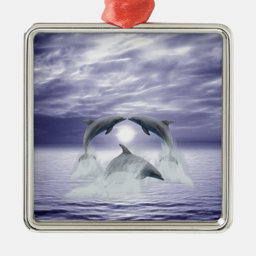 I love dolphins ornament